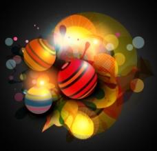 炫彩动感光线球体圆点梦幻底纹图片