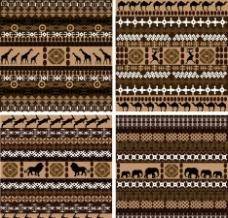非洲无缝古典花纹花边底纹图片