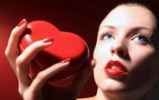 超大高清嘴唇口红红心图片