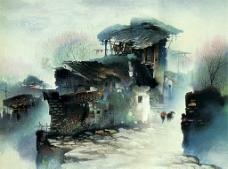 雾中小镇图片