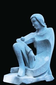 抽象的女人psd雕塑素材