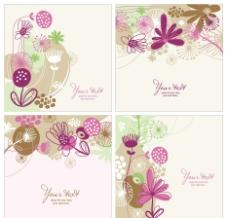 古典花纹底纹卡片图片
