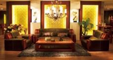 大厅暖色调效果图图片