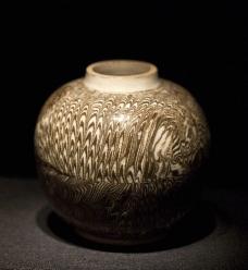 修武窑绞胎罐图片