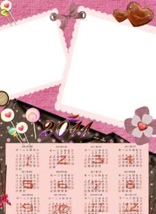 粉红年历2011图片