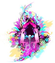 潮流色彩与元素矢量素材-1