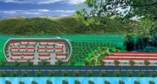 村庄规划效果图图片
