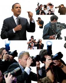 记者采访摄影
